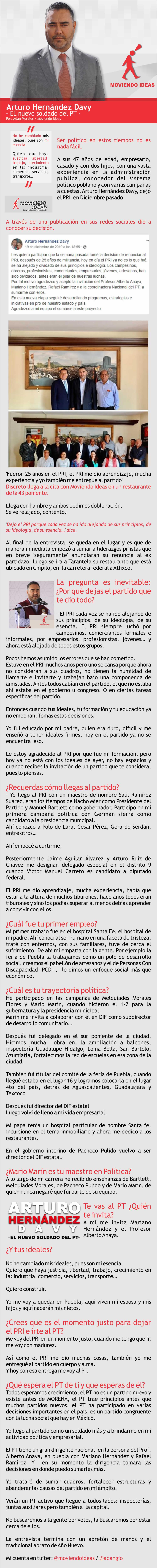 Entrevista Arturo Hernánde Davy